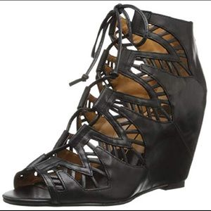 Dolce Vita Leather Laced Up Wedges